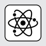 Ic?ne noire d'atome Illustration de vecteur