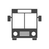 Icône noire d'autobus Photographie stock