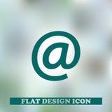 Icône noire d'email avec le fond de technologie Photographie stock