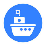 Icône noire de bateau Illustration pour le Web et la conception mobile Photos stock