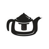 Icône noire de bouilloire Photographie stock libre de droits