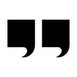 Icône noire de couleur de citation illustration libre de droits