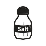 Icône noire de dispositif trembleur de sel Photographie stock