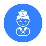 Icône noire de marin Illustration pour le Web et la conception mobile Photo libre de droits