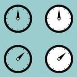 Icône noire de minuterie d'observateur d'horloge Image libre de droits