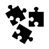 Icône noire de puzzle photos libres de droits