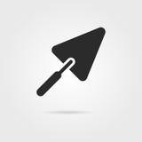Icône noire de truelle avec l'ombre illustration de vecteur