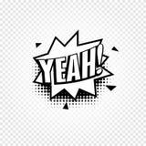 icône noire et blanche abstraite de ballon de la parole de bandes dessinées de couleur sur le fond à carreaux, zone de dialogue a Photos libres de droits