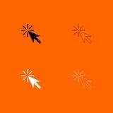 Icône noire et blanche d'ensemble de clic de souris Photographie stock