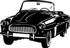 Icône noire et blanche de voiture Photo libre de droits