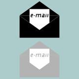 Icône noire et grise de lettre Image libre de droits