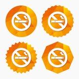 Icône non-fumeurs de signe Symbole de cigarette Photos libres de droits