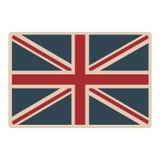 icône opaque britannique classique du Royaume-Uni de drapeau illustration stock