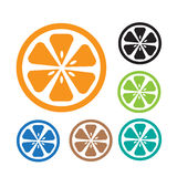 Icône orange Photo libre de droits