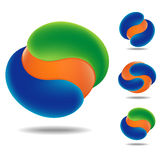 Icône orange de sphère Photos stock