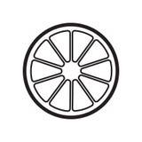 Icône orange plate Symbole gris de signe de vecteur Photo libre de droits