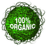 Icône organique d'arbuste de cent pour cent Photo stock