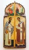 Icône orthodoxe russe antique de la porte royale Photo libre de droits