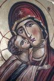 Icône orthodoxe traditionnelle de mère Mary Photo libre de droits