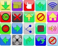 Icône ou bouton sur un site Web Image libre de droits