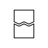 Icône ou logo de document de la meilleure qualité dans la ligne style Image libre de droits