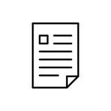 Icône ou logo de document de la meilleure qualité dans la ligne style Images stock