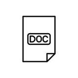 Icône ou logo de document de la meilleure qualité dans la ligne style Photo stock