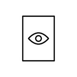 Icône ou logo de document de la meilleure qualité dans la ligne style Photographie stock libre de droits