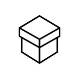 Icône ou logo de la meilleure qualité de boîte dans la ligne style Image libre de droits