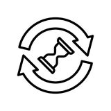 Icône ou logo de la meilleure qualité de temps dans la ligne style Photo stock