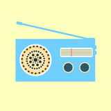Icône par radio bleue Photographie stock