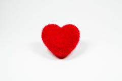 Icône pelucheuse de coeur de velours rouge pour l'amour Photos libres de droits