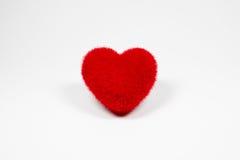 Icône pelucheuse de coeur de velours rouge pour l'amour Image stock