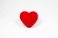 Icône pelucheuse de coeur de velours rouge pour l'amour Photo libre de droits