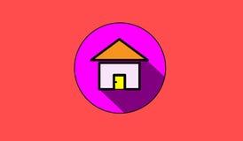 Icône plate à la maison Photos libres de droits