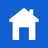 Icône plate à la maison Photographie stock