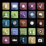 Icône plate Photos stock