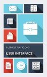 Icône plate colorée d'interface utilisateurs d'apps des affaires UI Image stock