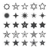 Icône plate d'étoile Étoile de signe Images libres de droits