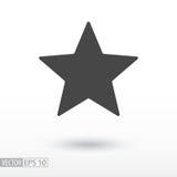 Icône plate d'étoile Étoile de signe Dirigez le logo pour le web design, le mobile et l'infographics Images stock