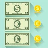 Icône plate d'argent Photos libres de droits