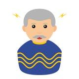 Icône plate d'avatar de magicien d'isolement sur le blanc illustration libre de droits