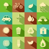 Icône plate d'environnement Photos stock