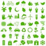 Icône plate d'environnement Photo libre de droits