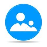 Icône plate d'homme d'affaires et d'enfant Photographie stock libre de droits