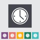 Icône plate d'horloge. Photographie stock