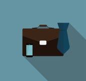 Icône plate d'icône de Proces d'affaires avec la longue ombre Images stock