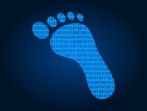 Icône plate d'impression d'empreinte de pas/pied de Digital pour des apps et des sites Web Photos libres de droits