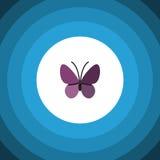 Icône plate d'insecte d'été Violet Wing Vector Element Can Be a employé pour le monarque, été, concept de construction d'insecte Photographie stock