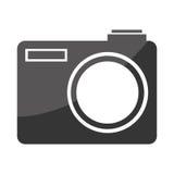 Icône plate d'isolement d'appareil-photo photographique Photos stock